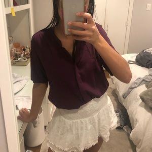 Anthropologie Wine Colored Blouse